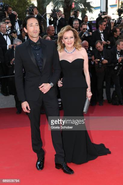 Caroline Scheufele Directoer Chopard and Adrien Brody attend the Closing Ceremony during the 70th annual Cannes Film Festival at Palais des Festivals...