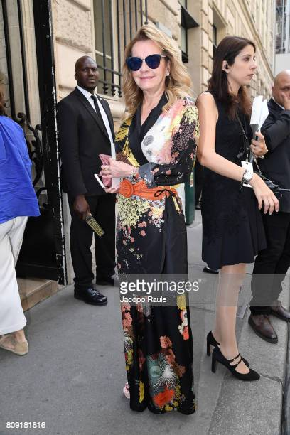 Caroline Scheufele is seen arriving at Elie Saab fashion show during the Paris Fashion Week Haute Couture Fall/Winter 20172018 on July 5 2017 in...