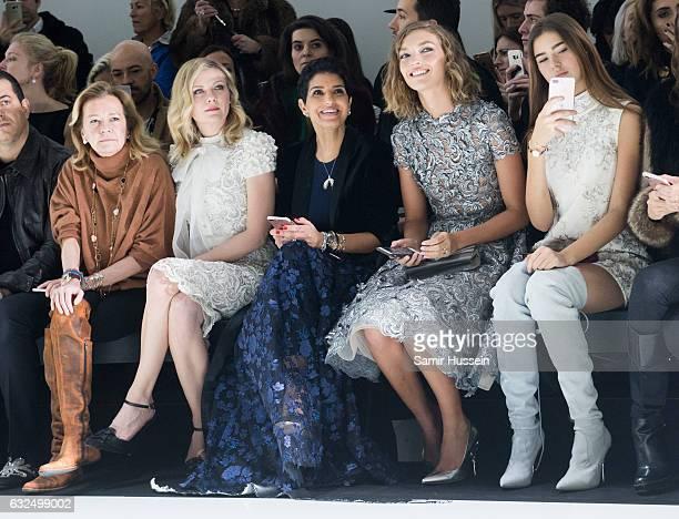 Caroline Scheufele Kirsten DunstPrincess Deena Aljuhani Abdulaziz Arizona Muse and Helena Gatsby attend the RalphRusso Haute Couture Spring Summer...
