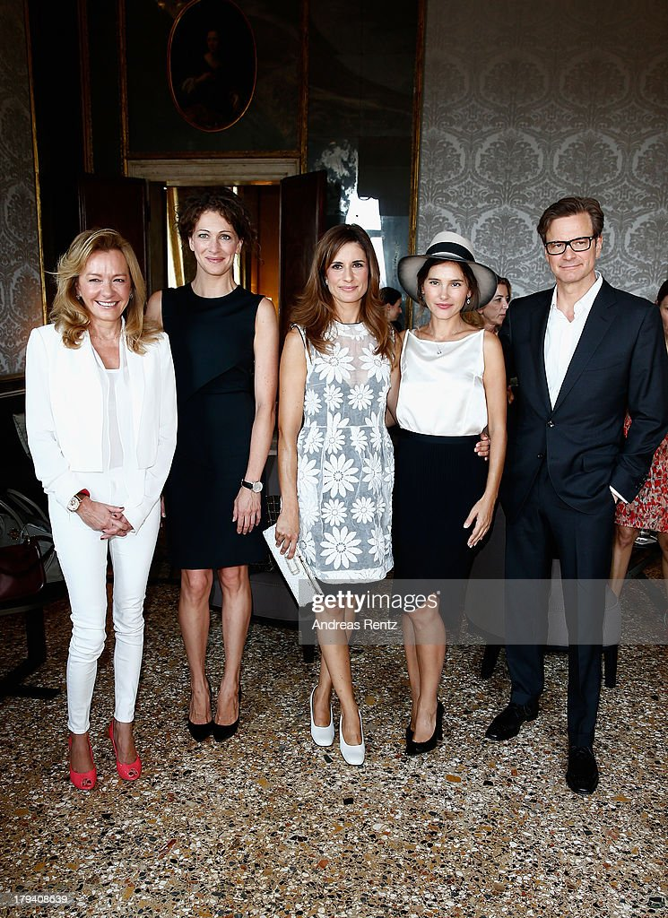 Caroline Scheufele Ksenia Rappoport Lidia Firth Virginie Ledoyen and Colin Firth attend Chopard Photocall during the 70th Venice International Film...
