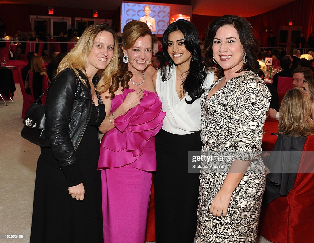 Caroline Scheufele, Prerna Balani and Raffaella Rossiello attend Chopard At 21st Annual Elton John AIDS Foundation Academy Awards Viewing Party at West Hollywood Park on February 24, 2013 in West Hollywood, California.