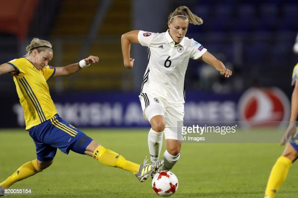 Caroline Seger of Sweden women Kristin Demann of Germany women during the UEFA WEURO 2017 Group B group stage match between Germany and Sweden at the...