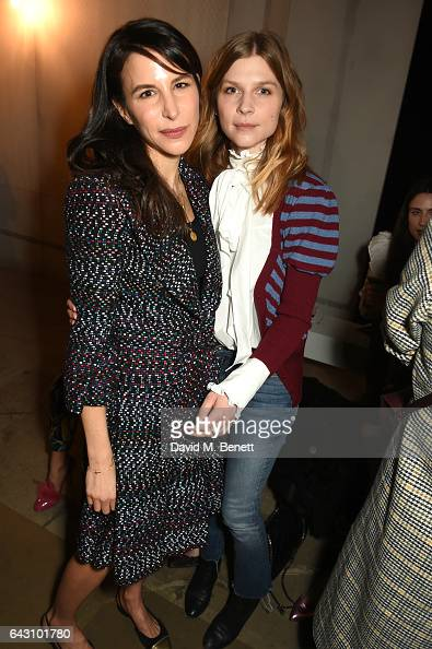 Caroline Sieber and Clemence Poesy attend the ERDEM show during the London Fashion Week February 2017 collections at the Old Selfridges Hotel on...