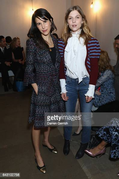 Caroline Sieber and Clemence Poesy attend the ERDEM show during the London Fashion Week February 2017 collections on February 20 2017 in London...