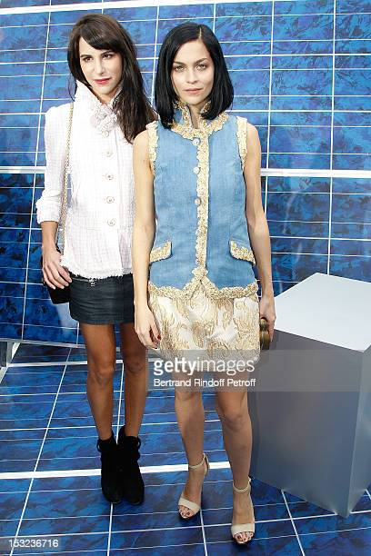 Caroline Sieber and Leigh Lezark attend the Chanel Spring / Summer 2013 show as part of Paris Fashion Week at Grand Palais on October 2 2012 in Paris...