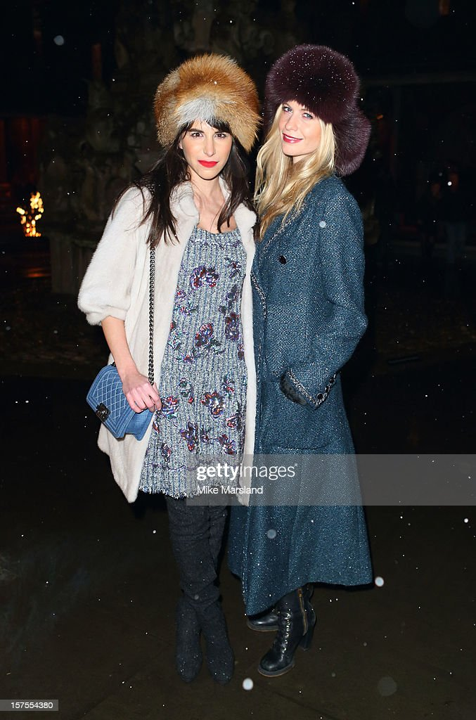 Caroline Sieber (L) and Poppy Delevingne attend the