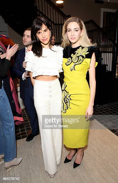 Caroline Sieber and Sabine Ghanem attend the Moda Operandi London cocktail reception at Moda Operandi on February 23 2015 in London England