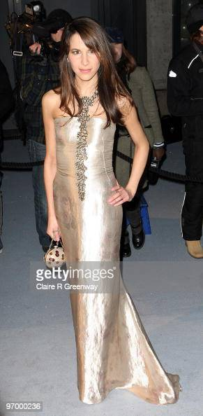 Caroline Sieber arrives at the Love Ball in aid of The Naked Heart Foundation at The Roundhouse on February 23 2010 in London England The charity...