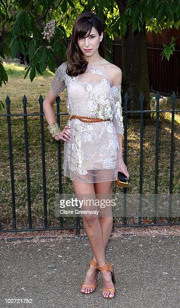 Caroline Sieber arrives at the Serpentine Gallery Summer Party in Kensington Gardens on July 8 2010 in London England
