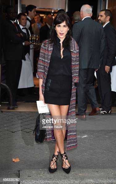 Caroline Sieber arrives at the Sonia Rykiel show during Paris Fashion Week Womenswear SS 2015 on September 29 2014 in Paris France