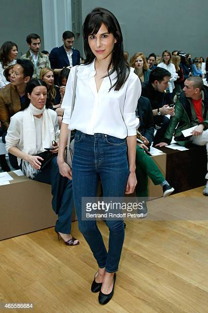 Caroline Sieber attends the Chloe show as part of the Paris Fashion Week Womenswear Fall/Winter 2015/2016 on March 8 2015 in Paris France