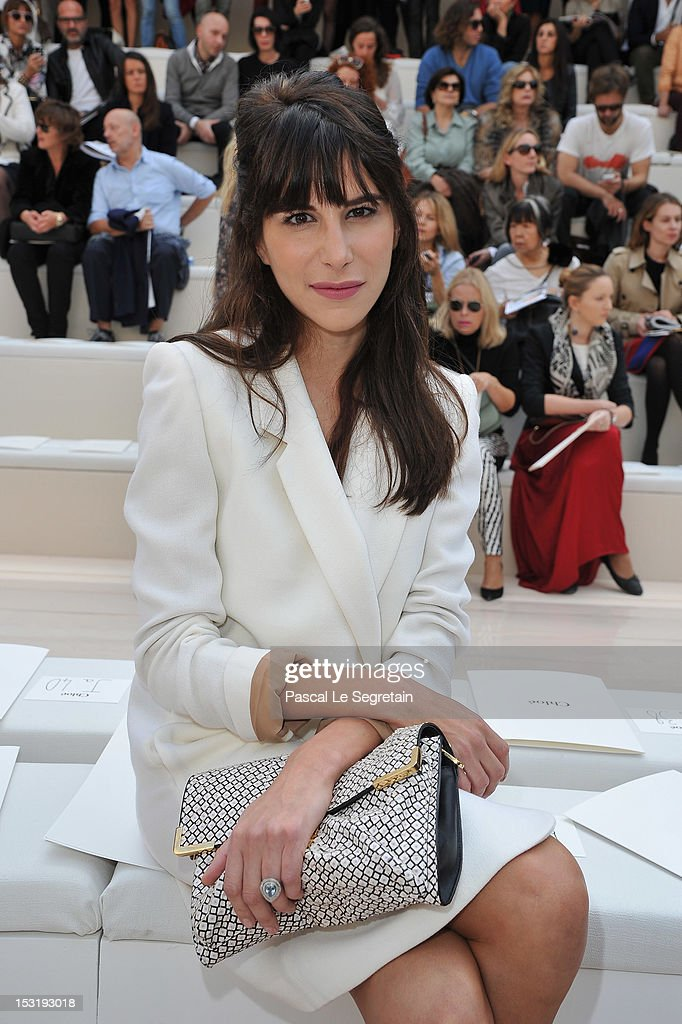 Caroline Sieber attends the Chloe Spring / Summer 2013 show as part of Paris Fashion Week at Espace Ephemere Tuileries on October 1, 2012 in Paris, France.