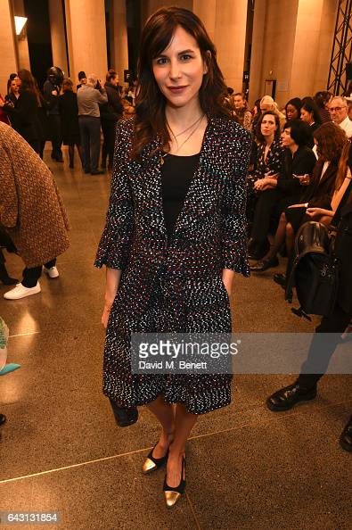 Caroline Sieber attends the Christopher Kane show during the London Fashion Week February 2017 collections on February 20 2017 in London England