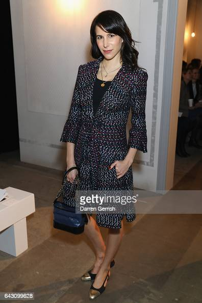 Caroline Sieber attends the ERDEM show during the London Fashion Week February 2017 collections on February 20 2017 in London England