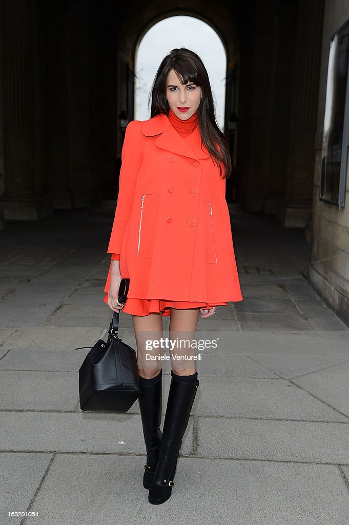 Caroline Sieber attends the Louis Vuitton Fall/Winter 2013 Ready-to-Wear show as part of Paris Fashion Week on March 6, 2013 in Paris, France.