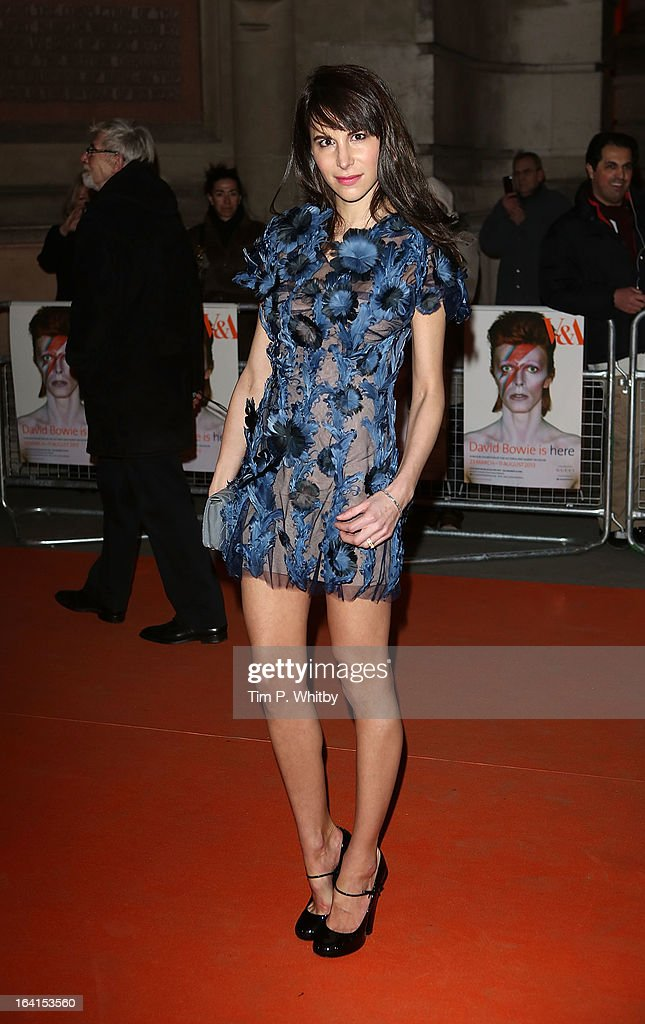 Caroline Sieber attends the private view of 'David Bowie Is' at Victoria & Albert Museum on March 20, 2013 in London, England.