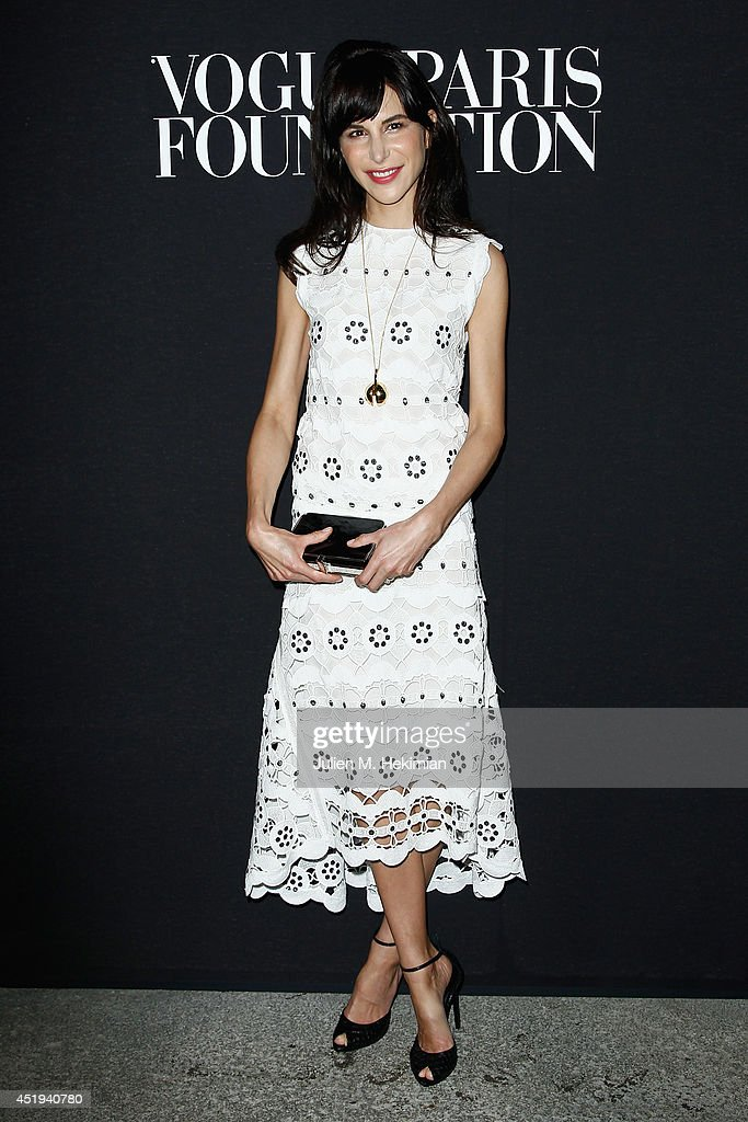 Caroline Sieber attends the Vogue Foundation Gala as part of Paris Fashion Week at Palais Galliera on July 9, 2014 in Paris, France.