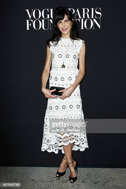 Caroline Sieber attends the Vogue Foundation Gala as part of Paris Fashion Week at Palais Galliera on July 9 2014 in Paris France