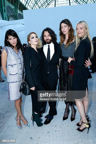 Caroline Sieber Camille Seydoux Benjamin Cercio Antonine Peduzzi and Virginie CourtinClarins attend 'The strange city' Exhibition by Ilya and Emilia...
