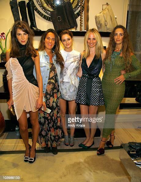 Caroline Sieber Coco Brandolini Leighton Meester Lauren Santo Domingo and Alexia Niedzielski attend the Roger Vivier celebration of Fashion's Night...