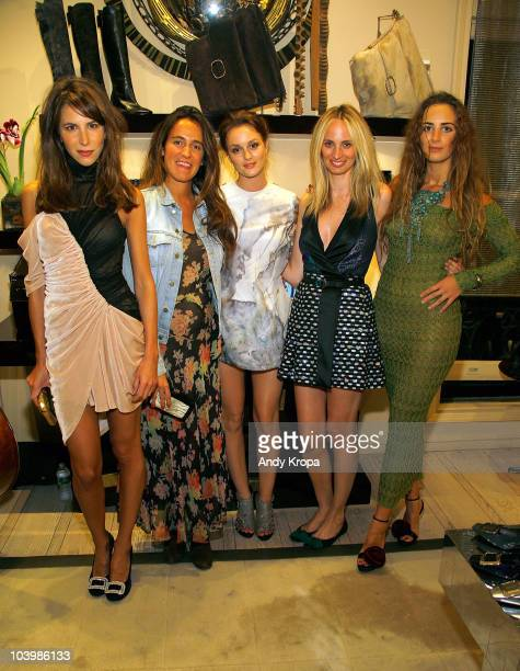 Caroline Sieber Coco Brandolini Leighton Meester Lauren Santo Domingo and Alexia Niedzielski attend the Roger Vivier celebration of Fashion's Night...