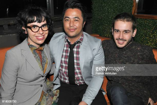 Caroline Sinders Danlly Domingo and Elliott Soriano attend After Party for HASTED HUNT KRAEUTLER Artists' Reception with JEFF BARK and EDWARD...
