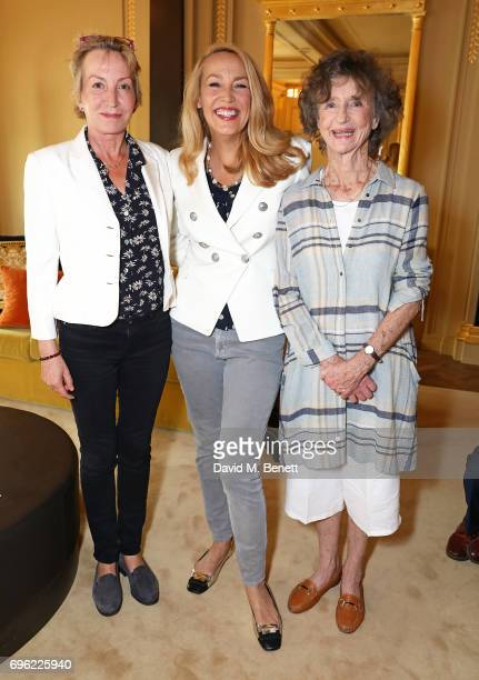 Caroline Somerset Jerry Hall and Lindy HamiltonTempleBlackwood attend a ladies lunch for Jade Jagger Fine Jewellery at Hotel Cafe Royal hosted by...