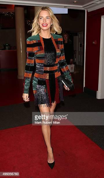 Caroline Stanbury leaving Madame Tussauds on November 30 2015 in London England