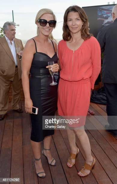 Caroline Stercks and Anouk Blain Maillot attend Longines Los Angeles Masters Cocktail Reception at The London Hotel on June 23 2014 in West Hollywood...