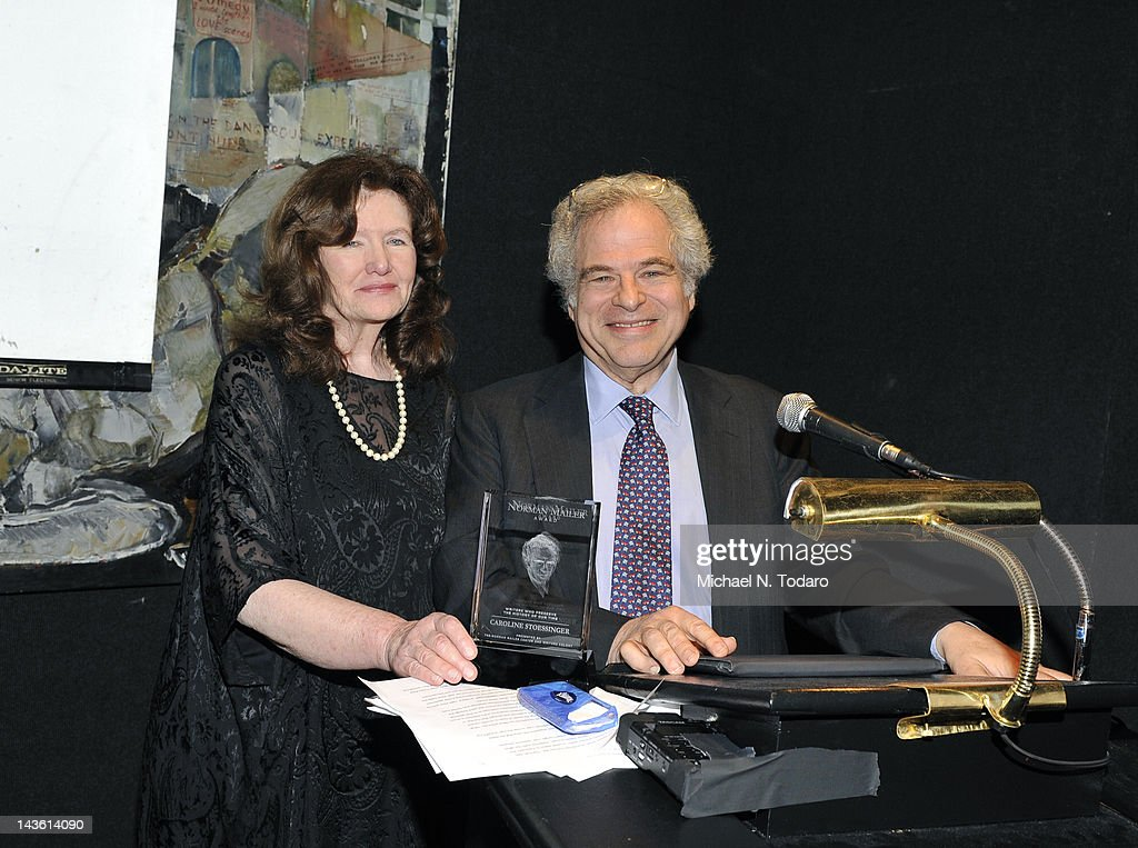 Caroline Stoessinger and Itzhak Perlman attend the Norman Mailer Center Commendation Awards at The National Arts Club on April 30, 2012 in New York City.
