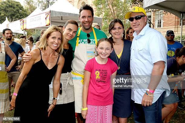 Caroline Styne Suzanne Goin David Lentz Hero Samantha Hill Alex's Lemonade Stand Foundation CoExecutive Directors Liz Scott and Jay Scott attend LA...