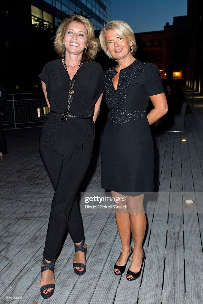 Caroline Suarez d'Aulan and Sophie Suarez d'Aulan attend the Auction Dinner to Benefit 'Institiut Imagine' on September 10, 2015 in Paris, France.