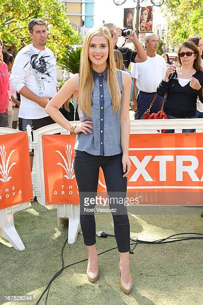 Caroline Sunshine visits 'Extra' at The Grove on April 30 2013 in Los Angeles California
