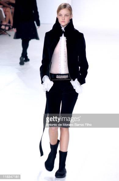 Caroline Trentini wearing Gloria Coelho Fall/Winter 2006