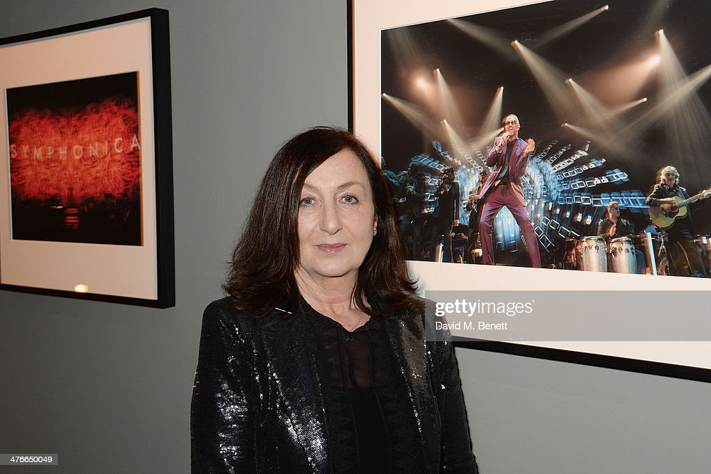 Caroline True attends 'Symphonica' - George Michael Album Launch Party at Hamiltons Gallery on March 4, 2014 in London, England.
