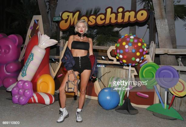 Caroline Vreeland attend the Moschino Candy Crush Desert Party hosted by Jeremy Scott on April 15 2017 in Coachella California