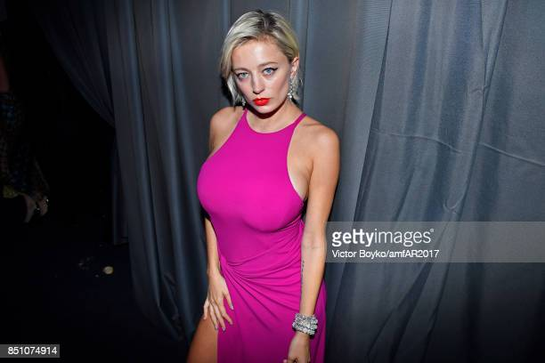 Caroline Vreeland attends amfAR Gala Milano on September 21 2017 in Milan Italy
