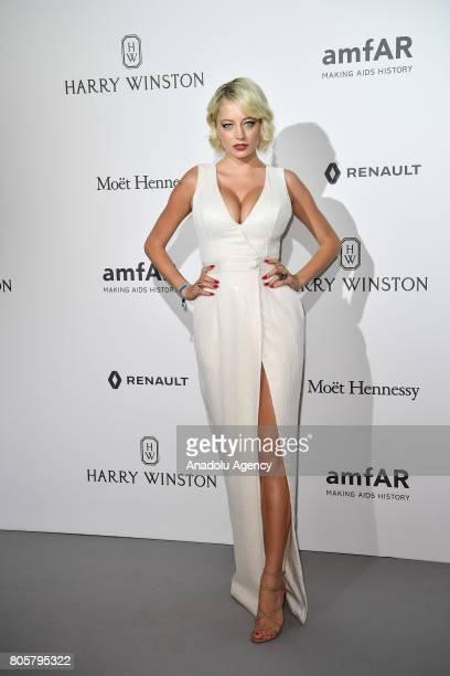 Caroline Vreeland attends the amfAR Paris Dinner 2017 at Le Petit Palais in Paris France on July 2 2017
