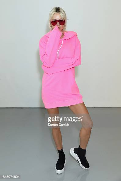 Caroline Vreeland attends the Antonio Berardi show during the London Fashion Week February 2017 collections on February 20 2017 in London England