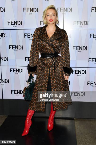Caroline Vreeland attends the Fendi show during Milan Fashion Week Spring/Summer 2018 on September 21 2017 in Milan Italy