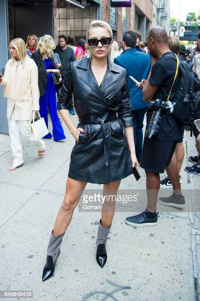 Caroline Vreeland attends the Zadig Voltaire fashion show during New York Fashoin Week at Cedar Lake in Chelsea on September 11 2017 in New York City