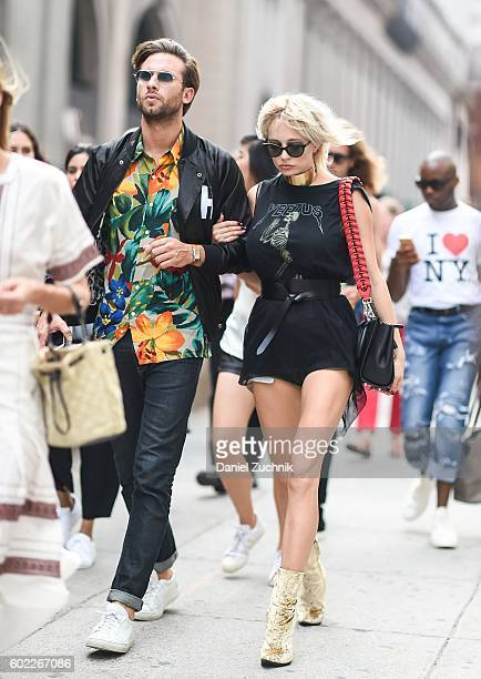 Caroline Vreeland is seen outside the Jonathan Simkhai show during New York Fashion Week Spring 2017 on September 10 2016 in New York City