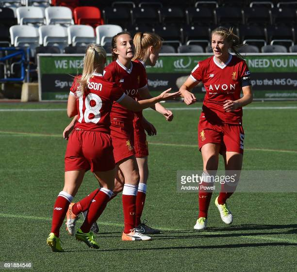 Caroline Weir of Liverpool Ladies after scoring a goal during a WSL 1 match between Liverpool Ladies and Manchester City Women at Select Security...
