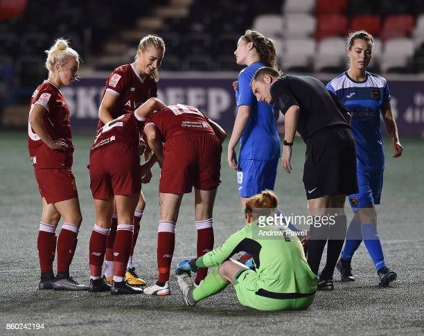 Caroline Weir of Liverpool Ladies celebrates after scoring during the Women's Super League match between Liverpool Ladies and Sheffield FC Ladies at...