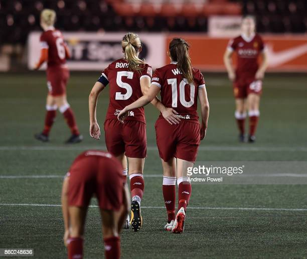Caroline Weir of Liverpool Ladies celebrates after scoring the second goal during the Women's Super League match between Liverpool Ladies and...