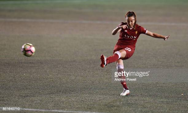 Caroline Weir of Liverpool Ladies comes close during the match between Everton Ladies and Liverpool Ladies at Select Security Stadium on September 22...