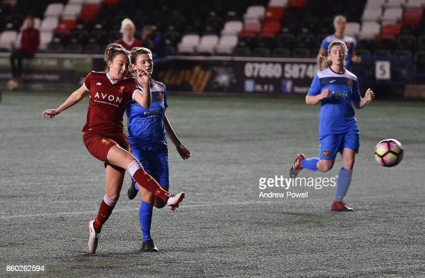 Caroline Weir of Liverpool Ladies comes close during the Women's Super League match between Liverpool Ladies and Sheffield FC Ladies at Select...