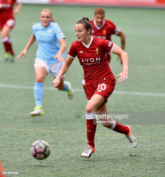 Caroline Weir of Liverpool Ladies during a WSL 1 match between Liverpool Ladies and Manchester City Women at Select Security Stadium on June 3 2017...