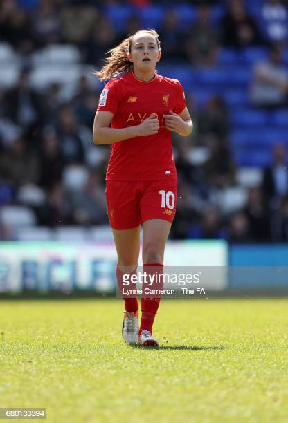 Caroline Weir of Liverpool Ladies during the WSL 1 match between Birmingham City Ladies and Liverpool Ladies at St Andrews Stadium on May 7 2017 in...