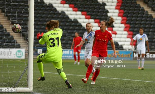 Caroline Weir of Liverpool Ladies scores her second goal of the game during the WSL 1 match between Liverpool Ladies and Sunderland Ladies at the...